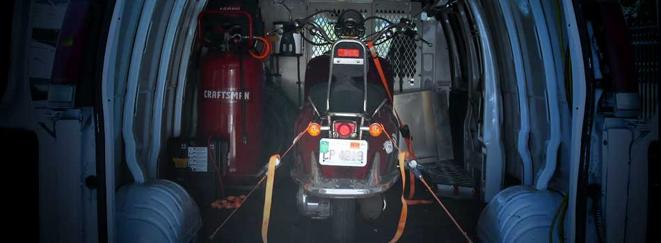 "<a href=""services_motorcycle_towing.html""><b>Enclosed Motorcycle Towing & Transportation</b></a><p>All motorcycle towing is done in an enclosed Van specifically designed for motorcycles, scooters, mopeds, four wheelers and trikes.</p>"